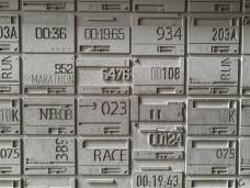 Running bib stamping block.