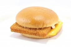 Fish Fillet Burger Sandwich on white background