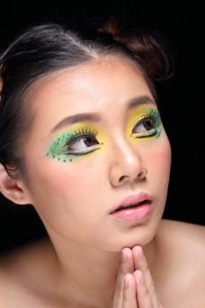 Young beautiful Asian woman beauty makeup portrait W01NOV