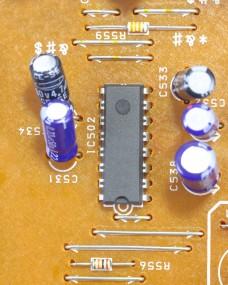 Circuit Board details transistor capacitor registers instigated circuit