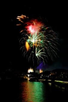 Colourful Firework over Putrajaya Bridge EDITORIAL