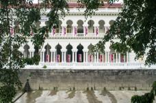 Colonial building facade