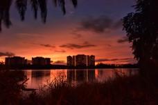sunset view at Tasik biru Sri Kundang, rawang