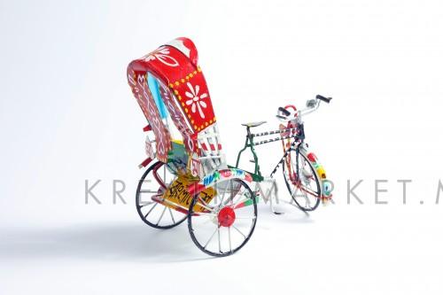 Colorful rickshaw toy W04DEC18