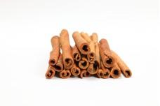 Cinnamon sticks spice sweet fragrant on white background