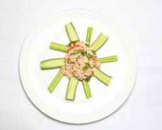 tuna salad with cucumber salary stick