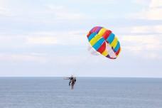 Parasailing parachute Free Flying air sky boat water Paragliding
