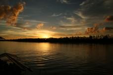 Sunset Beaufort Wetland, Sabah, East Malaysia.
