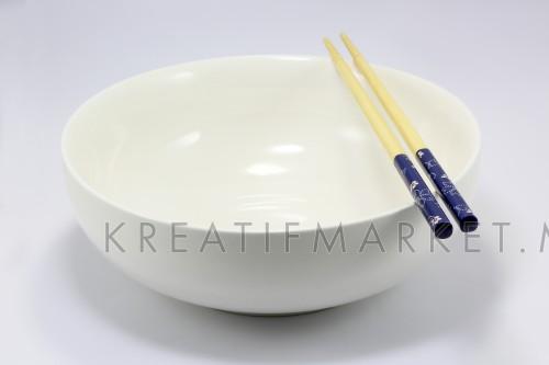 White ceramic bowl and Chopsticks