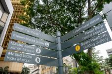 Tourist atttaction signboard
