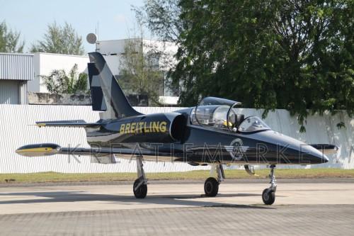 Brietling Air Team jet on tarmac at Subang Skypark (2013)