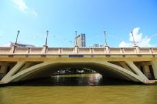 The Hang Tuah bridge along the Melaka River