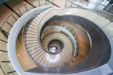 Spiral staircase at Sasana Kijang in Kuala Lumpur, Malaysia