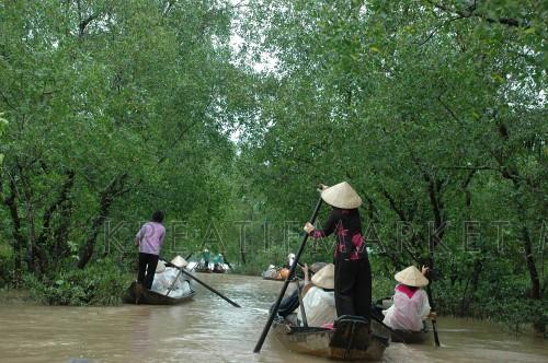 Transportation by canoe
