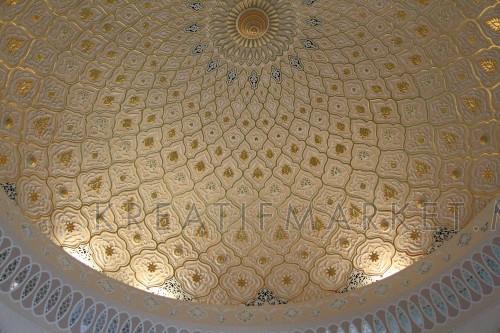Interior unique Mosque Roof, Islamic Arts Museum Malaysia
