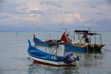 Small Boats off shore Pulau Pinang, Malaysia