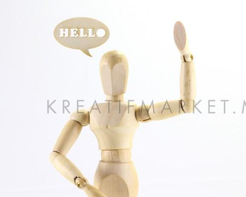 Wooden puppet hello word