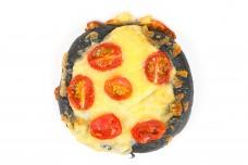 Black charcoal dough pizza