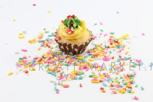 cupcake with sugar sprinkles