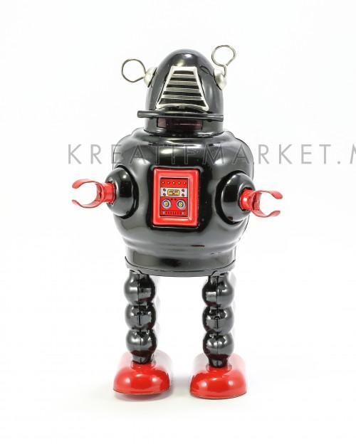 Tin windup robot toy