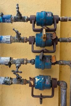Four water meters