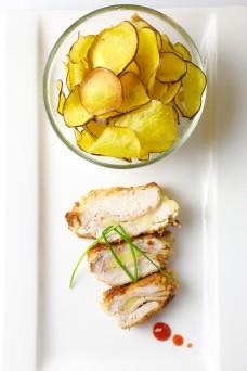 Chicken Cordon Blue Sweet Potato Chips