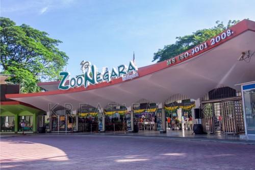 Facade of the entrance of Zoo Negara Malaysia