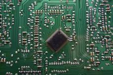 High tech electronics circuit board