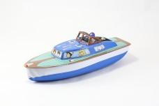 Classic Tin Metal Toy Boat