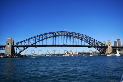 the most famous landmark in Sydney, harbour bridge